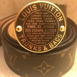 Rare LV Trunks/Bags Belt